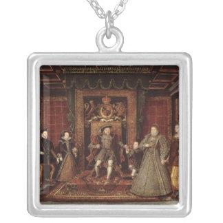 ヘンリー八世の系列: シルバープレートネックレス