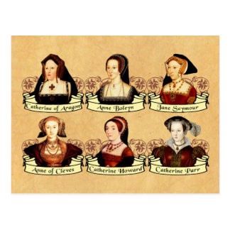 ヘンリー八世クラシックの6人の妻 ポストカード