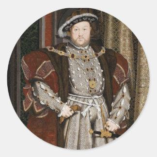 ヘンリー八世ステッカー ラウンドシール