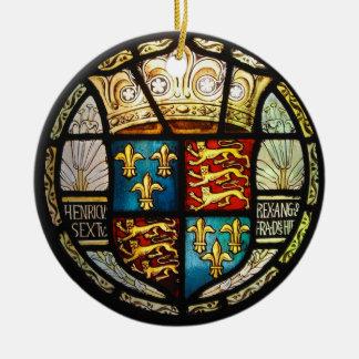 ヘンリー八世ステンドグラスTudorの王室のな紋章付き外衣 セラミックオーナメント