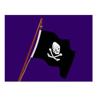 ヘンリー海賊あらゆる海賊旗の旗の起重機 ポストカード