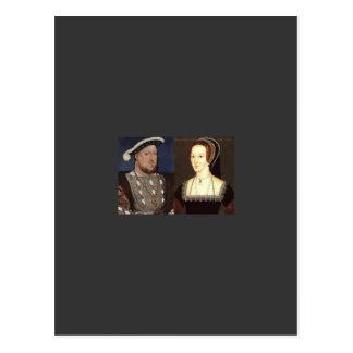 ヘンリー第8およびアン・ブーリン ポストカード