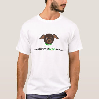 ヘンリー緑犬のTシャツ Tシャツ
