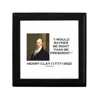 ヘンリー・クレイはむしろ大統領でであって下さいより正しいです ギフトボックス