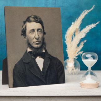 ヘンリー・デイヴィッド・ソローのポートレートのMaxhamの銀板写真 フォトプラーク