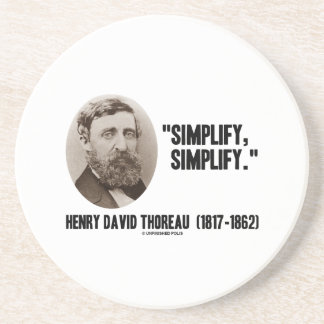 ヘンリー・デイヴィッド・ソローは簡単にします引用文を簡単にします コースター