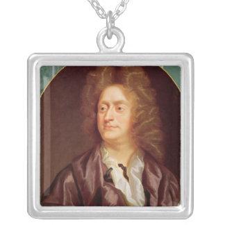 ヘンリー・パーセル1695年のポートレート シルバープレートネックレス