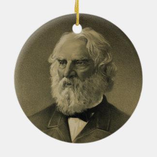 ヘンリー・ワーズワース・ロングフェローのポートレート(1888年) セラミックオーナメント