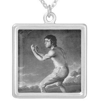 ヘンリーKinsbury著刻まれるダニエルMendoza 1789年 シルバープレートネックレス