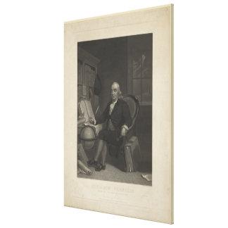 ヘンリーS. Sadd著ベンジャミン・フランクリンの版木、銅版、版画 キャンバスプリント