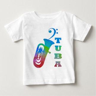 ヘ音記号が付いているテューバ ベビーTシャツ