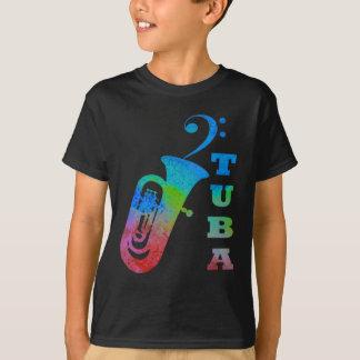 ヘ音記号が付いているテューバ Tシャツ