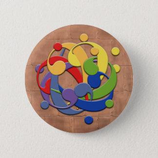 ヘ音記号の虹の球のパズル 缶バッジ