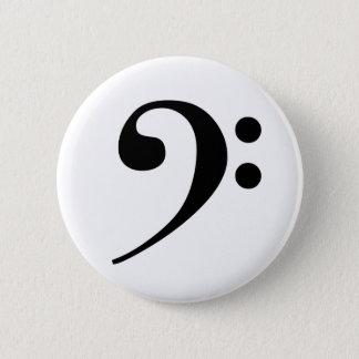 ヘ音記号ボタン 5.7CM 丸型バッジ