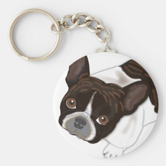 ベイリーの真珠Frenchie犬 キーホルダー