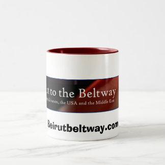 ベイルートからベルトウェイへの、Beirutbeltway.com ツートーンマグカップ