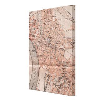 ベオグラードセルビア(1905年)のヴィンテージの地図 キャンバスプリント