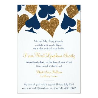 ベガスのカジノのパーティの模造のな金ゴールドのグリッターおよび色 カード