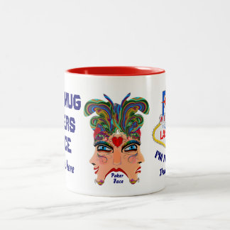 ベガスのグログのマグ5の(tm)眺めの芸術家は次コメントします ツートーンマグカップ