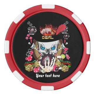 ベガスのスタイルはデジタル芸術の表現からの1つを置きました ポーカーチップ