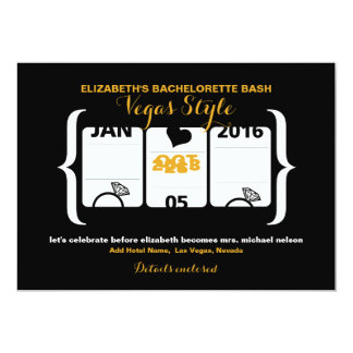 ベガスのスロットマシンのバチェロレッテ カード