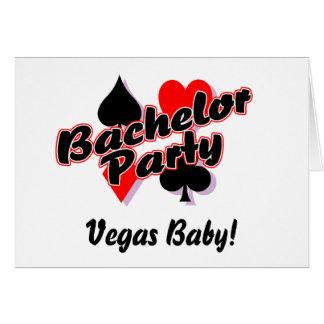 ベガスのベビーのバチュラーパーティ カード