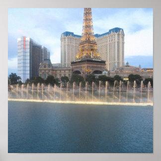 ベガスの音楽的な噴水: カジノ、ホテルは、4依頼します ポスター