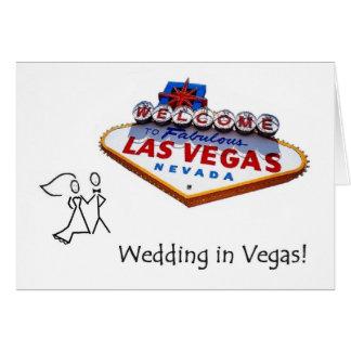 ベガスカードのつまようじの花嫁及び新郎の結婚式 グリーティングカード
