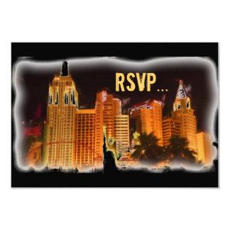 ベガス夜場面カスタマイズ可能なRSVPカード カード