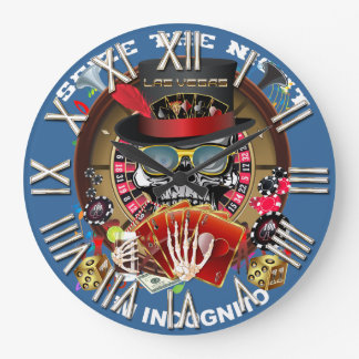 ベガスIngognitoすべてのスタイルの眺めのヒント ラージ壁時計