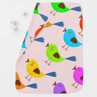 ベクトルかわいい鳥 ベビー ブランケット