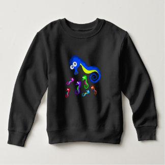 ベクトルによって着色されるタツノオトシゴ スウェットシャツ