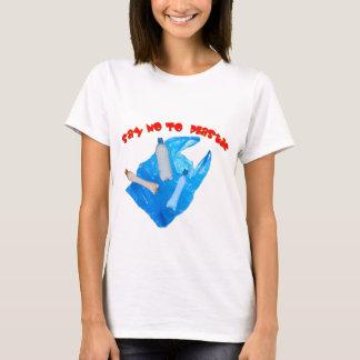 ベクトルはプラスチックを拒否します Tシャツ