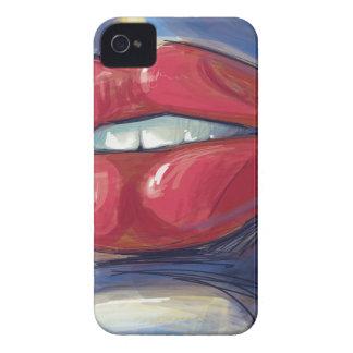 ベクトルアートワークをふくれっ面をするルビー色の唇 Case-Mate iPhone 4 ケース
