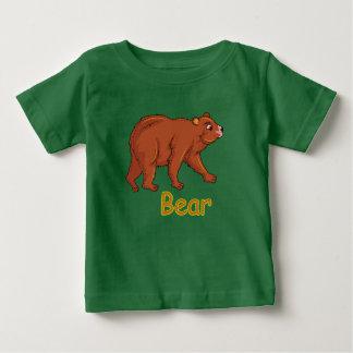 ベクトルイラストレーションくま ベビーTシャツ