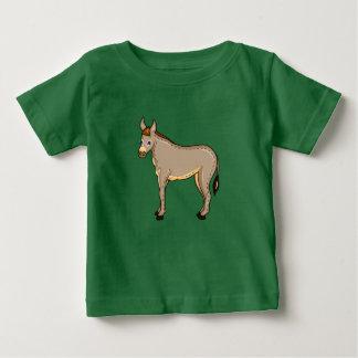 ベクトルイラストレーションのろば ベビーTシャツ