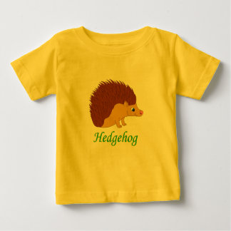 ベクトルイラストレーションのハリネズミ ベビーTシャツ