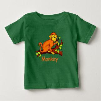 ベクトルイラストレーション猿 ベビーTシャツ