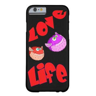 ベクトルパッファーの魚および文字愛生命 BARELY THERE iPhone 6 ケース