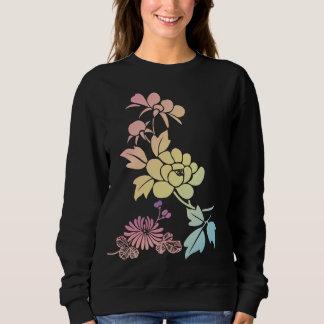 ベクトル抽象的な花 スウェットシャツ