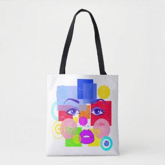 ベクトル抽象芸術の顔 トートバッグ