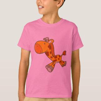 ベクトル漫画のキリン Tシャツ