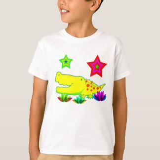 ベクトル漫画のワニ Tシャツ