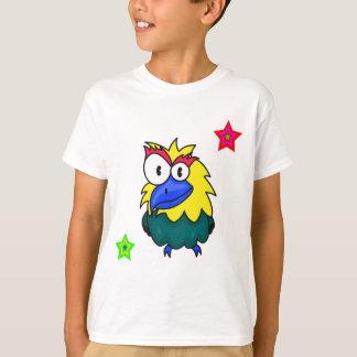 ベクトル漫画の鳥 Tシャツ