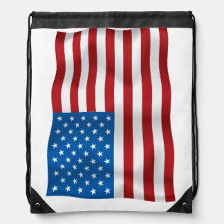ベクトル米国Waveingの旗 ナップサック