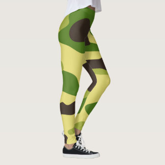 ベクトル緑のカムフラージュパターン レギンス