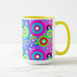 ベクトル鮮やかな円 マグカップ