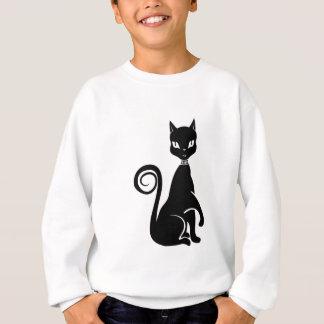 ベクトル黒猫 スウェットシャツ
