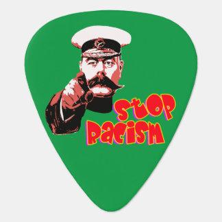 ベクトル-停止人種的優越感 ギターピック