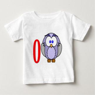 ベクトル-古いフクロウ ベビーTシャツ